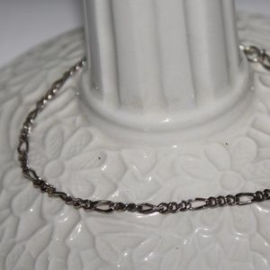 .925 sterling silver figaro bracelet 7 inches